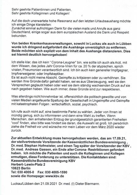 aktualisierte Version Aushang Dr. Biermann